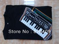 fashionable  man's t-shirt  Playable Electronic piano T-Shirts free shipping