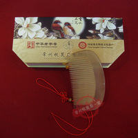 White horn comb small natural quality gift box gift changzhou comb girlfriend gifts