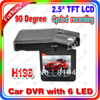 H198 Car DVR Camera with 6 IR LED and 90 degree view angle ,270 degree screen rotated Drop Shipping