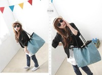 2013 zipper vintage women's handbag portable one shoulder cross-body bag denim all-match casual canvas bag