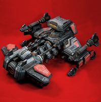 DIY 3D Paper Model toy Starcraft II battle cruiser