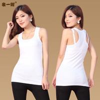 All-match long design tank female basic spaghetti strap vest 100% cotton