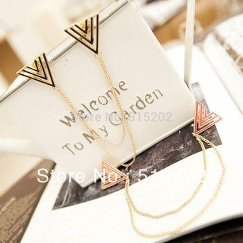 collar brooch European and American fashion  big triangular brooch jewelry FREE SHIPPING LY-Y056