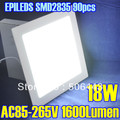 Warm/Cool White Selective Bright Led Panel Light 18W AC85-265V 1600 Lumen EPILEDS SMD2835 90pcs Square Shape, With Power Adapter