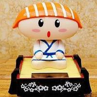 Bobble head doll sushi salmon solar doll car accessories exhaust pipe decoration
