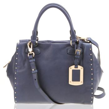 new arrival cowhide rivet women's 6123a01301n05 handbag messenger bag free shipping