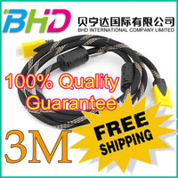 Hot Sale! 3M 10Ft HDMI Male to Male cable for flat TV HDTV DVD Fully HDCP compliant to provide highest level of signal quality