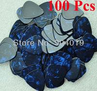 Lots of 100 pcs new medium 0.71 mm Blank guitar picks Celluloid Pearl Blue