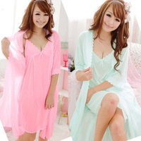 Free shipping 2014 Hot Selling Women Pajamas,4 Colors Silk Sleepwear,Two Piece Set Summer Sexy Women Nightgowns,Good Quality