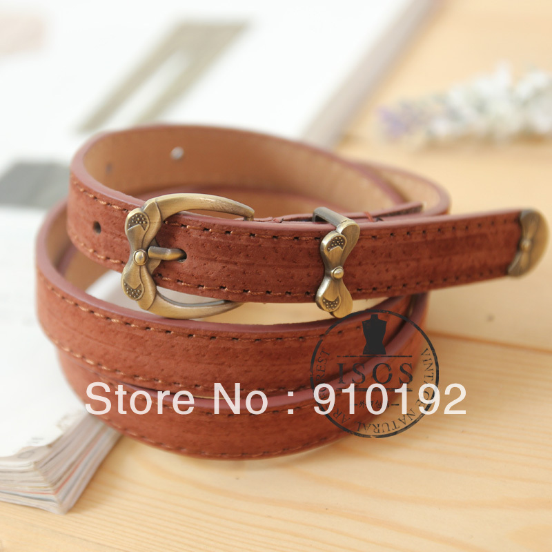 Vivi magazine small fresh sweet vintage flower buckle female strap belt free shipping(China (Mainland))