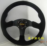 Car steering wheel 14 scrub genuine leather steering wheel momo automobile race modified steering wheel