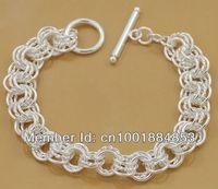 GY-PB064 Wholesale lots free ship Factory Price 925 silver Fashion Chain Bracelet, 925 Silver Bracelet dxsa moza vgia