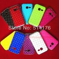 New Arrival Luxury Bling Diamond Crystal Star Hard Case Cover For Samsung Galaxy Y Dous S6102, 10pcs/lot + Free shipping