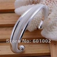 LQ-B019 Free Shipping Wholesale lots 925 Silver wholesale lots fashion Jewelry Bracelet Bangle Cuff  anga jena