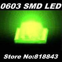 Wholesale-Free Express Shipping! 4000pcs/ reel New 0603 Ultra Bright Jade Green SMD LED