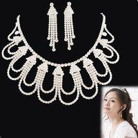 Wedding chain sets bride NEOGLORY accessories silvery rhinestone wedding dress formal dress chain sets elegant bride