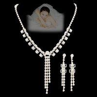 Chain sets bride NEOGLORY accessories silvery rhinestone the bride wedding dress classical wedding chain sets