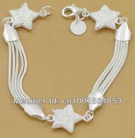 GY-PB056 Wholesale lots free ship Factory Price 925 silver Fashion Chain Bracelet, 925 Silver Bracelet dxka mora vgaa