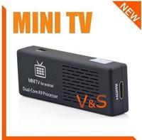 MK808B with BLUETOOTH Mini PC Android TV box MK808B 4.1 Dual-Core 1.6 GHz RAM 1GB ROM 8GB HDMI 1080P RK3066, Free Shipping