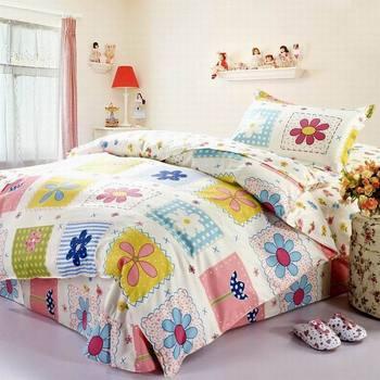 Rustic princess 100% cotton three piece set cotton child 100% single home duvet cover bedding home textile