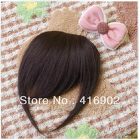 wholesale  new Clip In On 2# Dark Brown Sides Part  Human   Hair Bangs Fringe  Clip in 100% Remy Human Hair Extensions