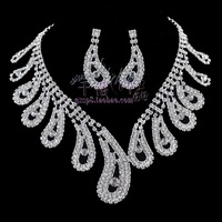 The bride accessories rhinestone accessories marriage accessories twinset crescendos necklace chain sets