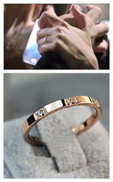 Yeh accessories fashion rose gold titanium ring brief ring female finger ring
