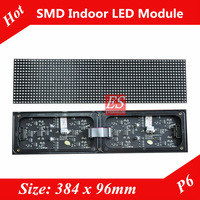 NEW! 2013 P6 LED Advertising Billboard  Module Indoor SMD3528 Full Color 2 in1 Module Size 384mm x 96mm with Bracket MBI5020 IC
