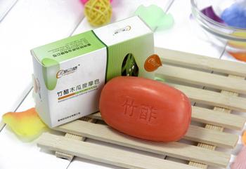 Bamboo vinegar papaya massage soap corneous cool oil control whitening soothing sleep peacefully