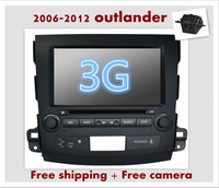 Factory wholesales: 8inch car dvd gps for mitsubish outlander with canbus+Navitel russion  map+virtual disk+ipod+A2DP+phonebook