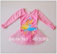 girl cartoon long sleeve ballet dress princess mesh dress item NO.5084C