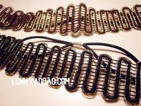 Vintage Black Brown hairbands stretch elastic solid bling glitter headbands for women girl hair accessories/headdress
