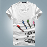Brand shirts for men tshirts cotton men gangnam style menswear the large size of the clothing new products for 2013 T011
