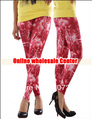 New 2013 Fashion slim women tights red lightning sky graffiti printed stretch space milk leggings pantyhose pants trousers