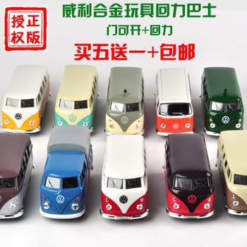 The wyly toy car alloy car model vw classic bus series WARRIOR car