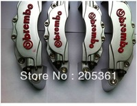 3D BIG Brembo Look Brake Caliper Cover Set Front+Rear 4pcs Silver