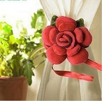 Free Shipping/Beautiful Rose Curtain Buckle/Curtain Folders/Accessories/Straps/Wedding Decoration/gifts/Novelty Items/20Pcs/Lot