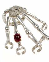 2013 New fashion Skull Claw Cuff Bangle Bracelet  Silver/Gold Star Love Punk Skeleton Skull Gem Hand Bone Ring Bracelet