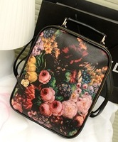 new double sided print pattern candy color four seasons backpack women's handbag