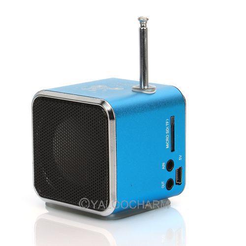 1 шт. синий музыкальный проигрыватель FM радио <b>USB микро</b> ...