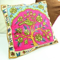 New arrival rustic single face yarn embroidered pillow cover cushion set pillow wedding gift
