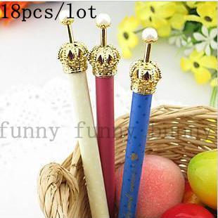 discount korean creative gift kawaii stationery metal plastic princess crowns pen