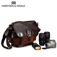 Harrson new year gift genuine leather outdoor vintage bag one shoulder cross-body bags slr camera bag