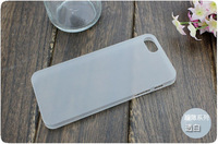 500PCS X Ultra-thin Transparent Matte Cover Case For Apple iPhone 5 10colors