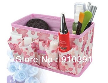 Free shipping/EMS,multifunctional non-woven foldable cosmetic storage bag as jewelry case box for lady accessory in bedroom.