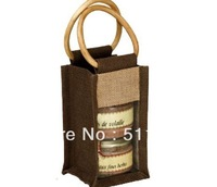 FREE SHIPPING BY DHL,JUTE JAR BAG WITH CANE HANDLE ,CUSTOMIZED LOGO AND BAG ACEPTABLE,WE ARE MANUFACTUER,SIZE:19HX12WX12G(CM)