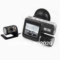 HD 720P Dual Lens Dashboard Car vehicle Camera Video Recorder DVR CAM G-sensor in car video camera
