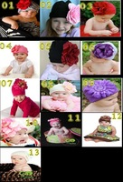 retail!  fashion girl baby hats with big flower free shipping