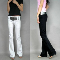 2013 New spring  was thin and low  waist  slim black and white flares, casual trousers, fashion puplar  Jeans  ,+free shinpping