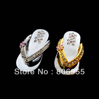 Fashion crystal Metal shoes 1gb 2gb 4GB 8GB 16GB 32GB Computer USB Flash Drives Storage Device